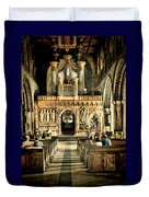 The Nave At St Davids Cathedral 2 Duvet Cover