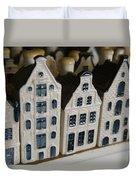 The Netherlands, Amsterdam, Model Houses Duvet Cover