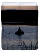 The Night Fisherman Floats Duvet Cover