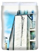 The Noon Sundial At The London Stock Exchange Duvet Cover