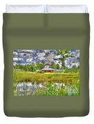 The Old Barn By The Pond Duvet Cover