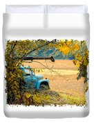 The Old Boom Truck Duvet Cover