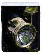 The Old Brass Ford Headlight Duvet Cover by Steve McKinzie