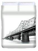 The Old Bridges At Memphis Duvet Cover