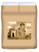 The Old Church At Shellpile  Duvet Cover