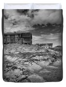 The Old Fisherman's Hut Bw Duvet Cover by Heiko Koehrer-Wagner