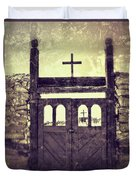 The Old Galisteo Cemetery Duvet Cover