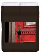 The Old Red Door Duvet Cover