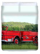 The Old Red Fire Engine Duvet Cover