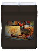 The Old Smoke Shop Duvet Cover by Dave Mills