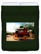 The Old Stage Coach Duvet Cover by Susanne Van Hulst