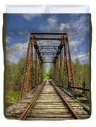 The Old Trestle Duvet Cover by Debra and Dave Vanderlaan