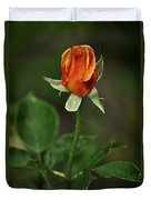 The Orange Rose Duvet Cover