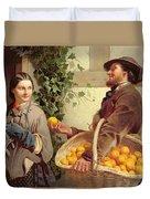 The Orange Seller  Duvet Cover