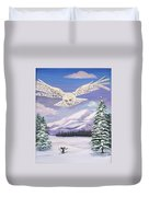 The Owl And The Rat Duvet Cover by Phyllis Kaltenbach