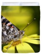 The Painted Lady And The Daisy  Duvet Cover