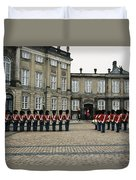 The Parading Of The Guards Duvet Cover