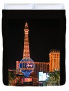 The Paris At Night Duvet Cover
