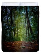 The Pathway In The Forest Duvet Cover