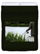 The Patient Fisherman Duvet Cover