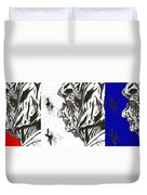 The Patriotic Ms. Beatrice Duvet Cover