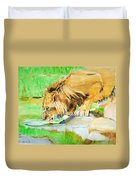 The Paws That Refreshes Duvet Cover by Judy Kay