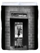 The Payphone - Black And White Duvet Cover
