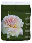 The Peace Rose Duvet Cover
