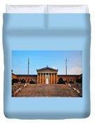 The Philadelphia Museum Of Art Front View Duvet Cover
