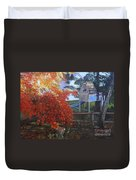 The Playhouse In Fall Duvet Cover