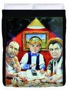The Poker Game Duvet Cover