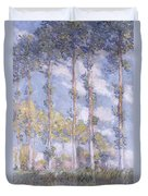 The Poplars Duvet Cover by Claude Monet