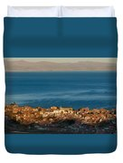 The Population Of Copacabana On The Shores Of Lake Titicaca. Republic Of Bolivia. Duvet Cover