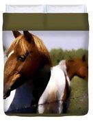 The Prairie Horses Duvet Cover