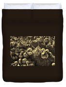 The Produce Of The Earth In Sepia Duvet Cover