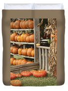 The Pumpkin Shack At Isom's Orchard Duvet Cover