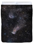 The Question Mark Nebula In Orion Duvet Cover
