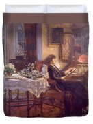 The Quiet Hour Duvet Cover by Albert Chevallier Tayler