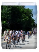 The Race Is On Duvet Cover