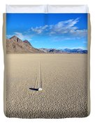 The Racetrack Playa Duvet Cover