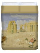The Ramesseum At Thebes Duvet Cover