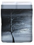 The Raven Piece 1 Of 2 Duvet Cover by Gray  Artus