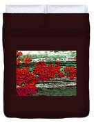 The Red Clouds Duvet Cover