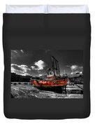 The Red Fishing Boat Duvet Cover