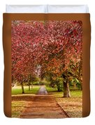 The Red Path Duvet Cover