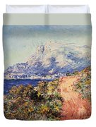 The Red Road Near Menton Duvet Cover