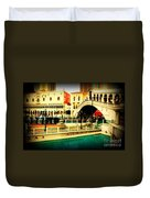 The Rialto Bridge Of Venice In Las Vegas Duvet Cover