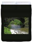 The River Dove Beneath Coldwall Bridge Duvet Cover