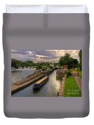 The River Thames At Goring Duvet Cover