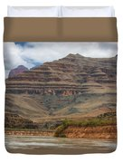 The Riverbend-grand Canyon Perspective Duvet Cover